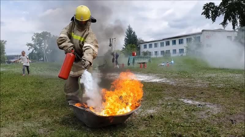 Пожарные учения Беркут Юнармия ДПД