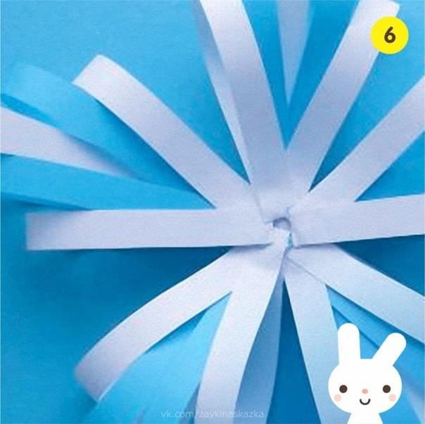 ОБЪЁМНАЯ СНЕЖИНКА ИЗ БУМАЖНЫХ ПОЛОСОК Изготовление снежинок одно из любимых зимних занятий у детей. Их вырезают из салфеток и бумаги или лепят из пластилина. В этом занятии снежинки делаются из
