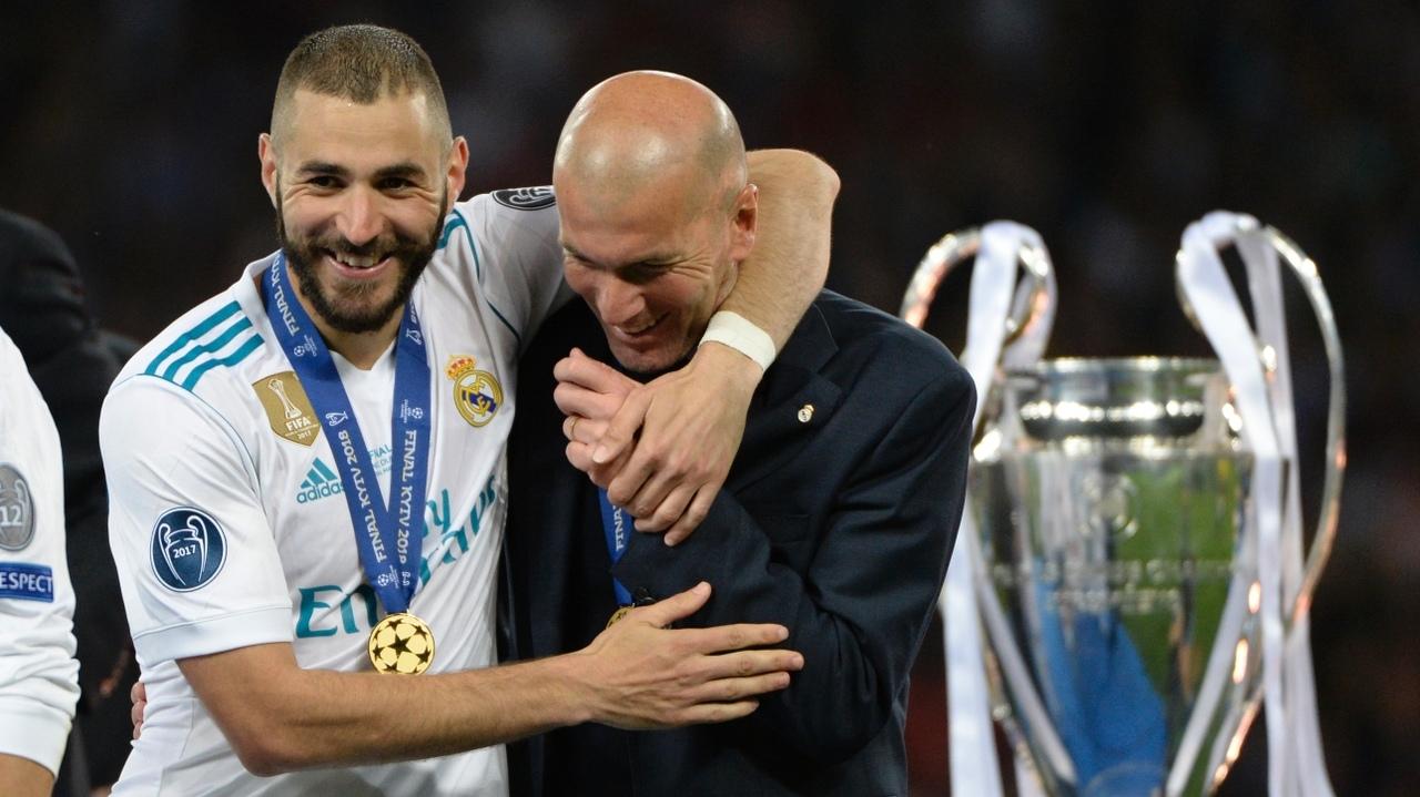 Карим Бензема и Зинедин Зидан. ФК Реал Мадрид