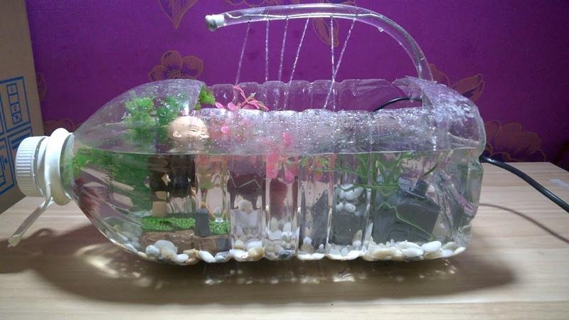 DIY AQUARIUM FISH TOWER OF PLASTIC BOTTLE ART - idea - Har Channel
