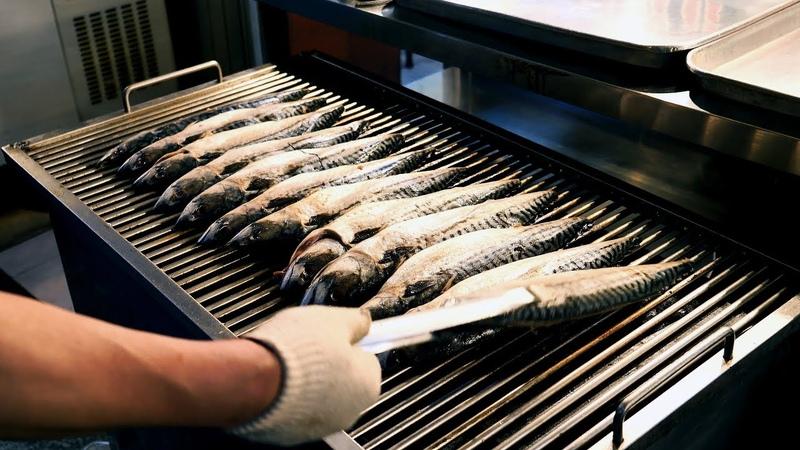 Various grilled fish stir fried spicy pork Korean food