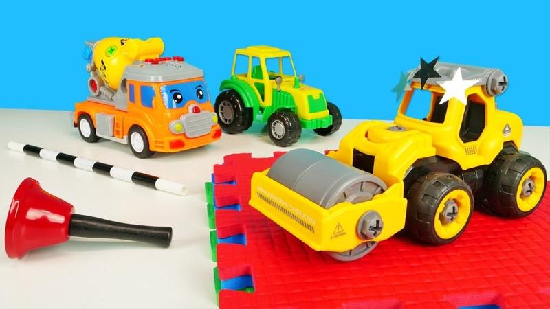 Автошкола для самых маленьких - Как работает каток - Видео для детей про машинки