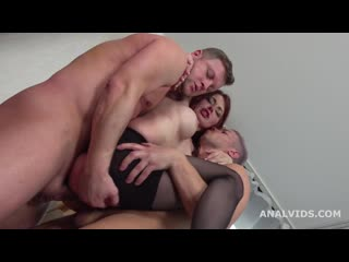 Lelya Mult Welcome to Porn with 3on1 Balls Deep Anal, DP, Gapes, Manhandle and Cum in Mouth GL187