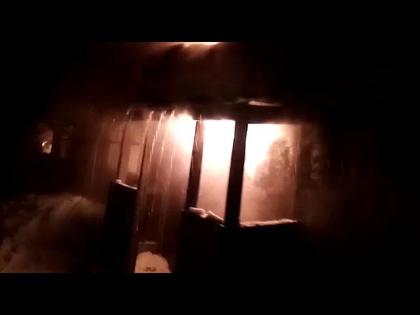 Пожар в селе Филькино. Горит дом №1 по улице Крылова www.serovglobus.ru