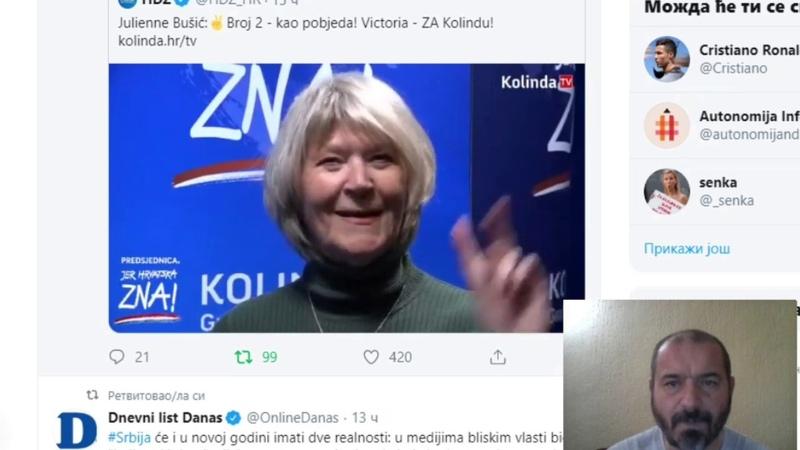 Dva prsta za USTAŠKO TERORISTIČKU Hrvatsku