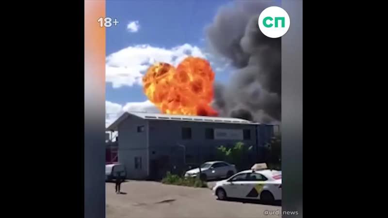 Взрывы на стоянке Яндекс такси