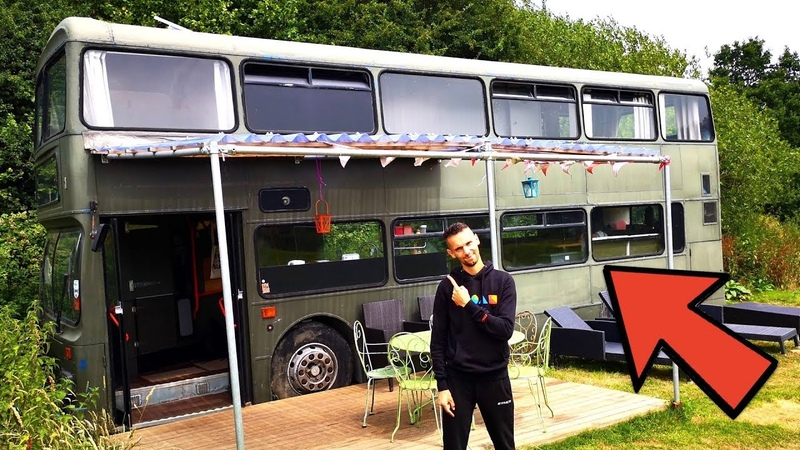 DOUBLE DECKER BUS CONVERTED INTO 3 BEDROOM HOME TOUR 🚌🏠 BEAUTIFUL CONVERSION 💚