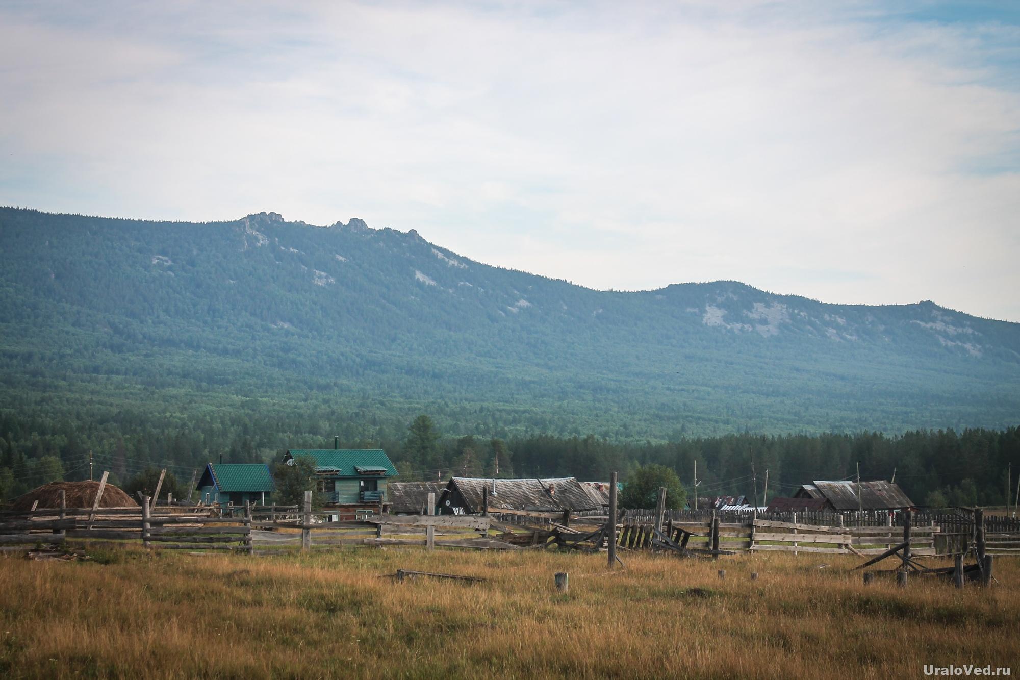 Хребет Зигальга. Вид из села Тюлюк