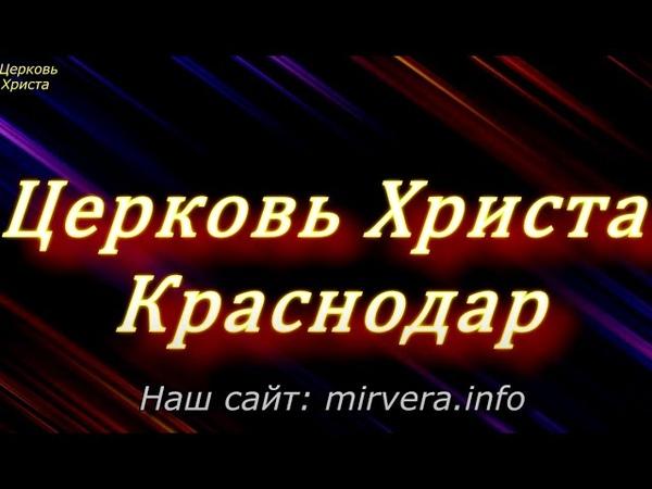02 06 2020 Алексей Каменев Церковь Христа Краснодар