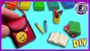 ШКОЛЬНЫЕ ПРИНАДЛЕЖНОСТИ ИЗ ПЛАСТИЛИНА. СНОВА В ШКОЛУ | DIY BACK TO SCHOOL