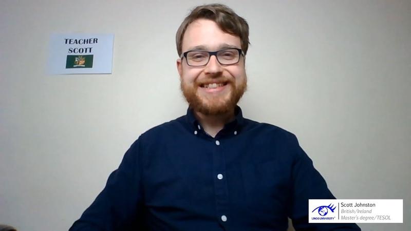 Teacher Scott Johnston @ Learning English for Kids