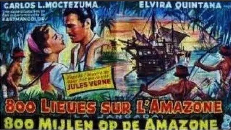 Тайна Жоао Карраль 800 лье вниз по Амазонке 1959 FHD 1080p Приключения Жюль Верн Советский дубляж