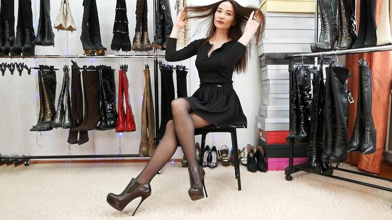 Christina in Gianmarco Lorenzi platform stilettos booties Size 38 Кристина Кожина Feb 27 2018