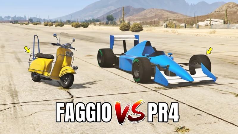 GTA 5 Online: PROGEN PR4 VS FAGGIO (WHICH IS FASTEST?)