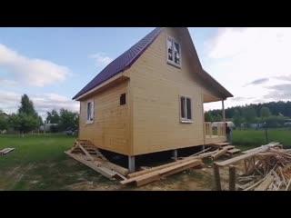 Обзор дома со стройки в п. Лисьи Ямки