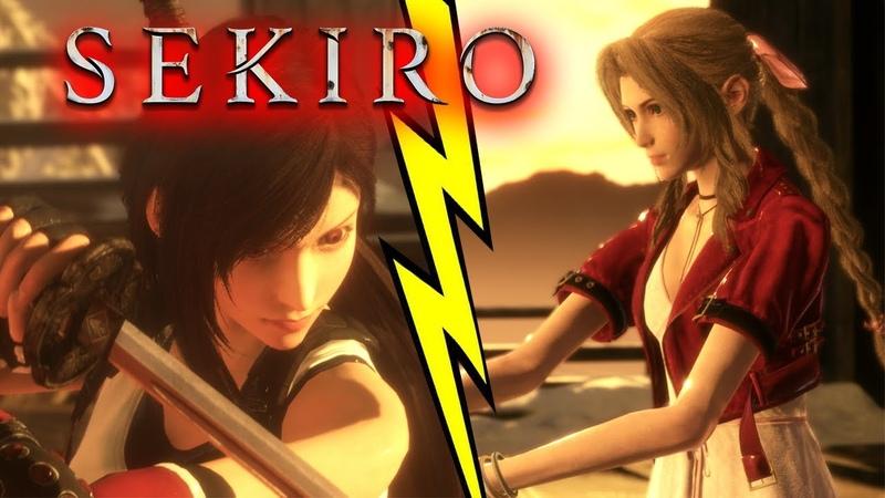 TIFA VS AERITH FF7 Remake but it's SEKIRO Mods Final Fantasy 7 Remake