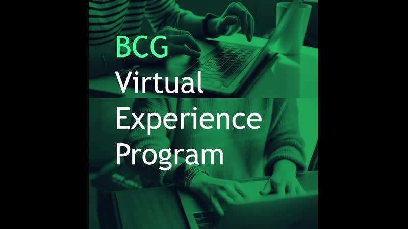 BCG Virtual Experience Program