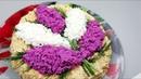 Праздничный Салат СиреньилиВетка СирениБукет Сирени/Как украсить салаты красиво/Festive salad