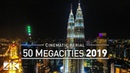 【4K】Drone Footage 50 MEGACITIES of the World 2019 .. Cinematic Aerial Film