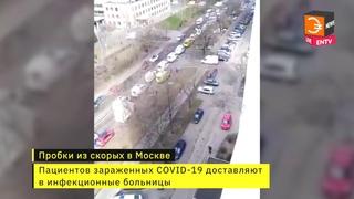 У московских больниц коллапс из скорых, доставляющих зараженных коронавирусом. Коронавирус в России