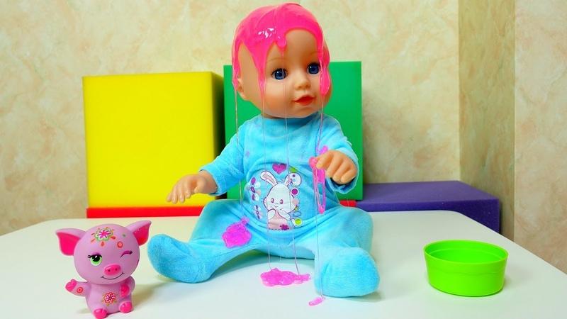 Baby Born oyuncağını kaybetti Yemek oyunları ve bebek bakma oyunları