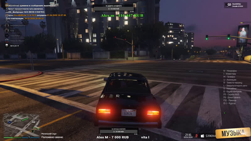 Grand Theft Auto V Black White RP тест сервера плюхи за помощь