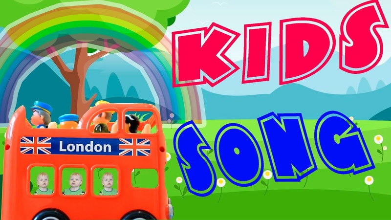 Wheels on the Bus I Nursery Rhymes Kids Songs I PJ Masks on the London Bus