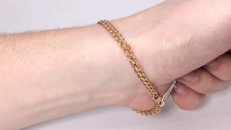Золотой браслет Царь Красное золото 585 пробы Новый Заводской