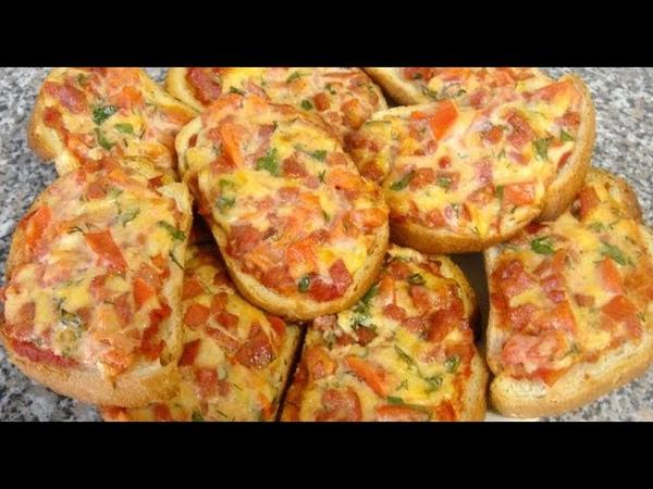 Горячие бутерброды Мини пицца в духовке и микроволновке