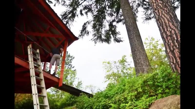 Дом на дереве для сына сделал сам