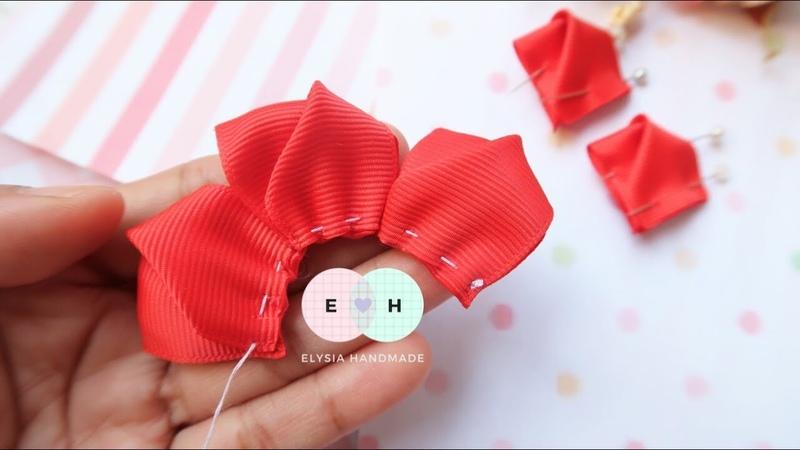 Amazing Kanzashi Flower Hand Embroidery Works Ribbon Tricks Easy Making Tutorial 15