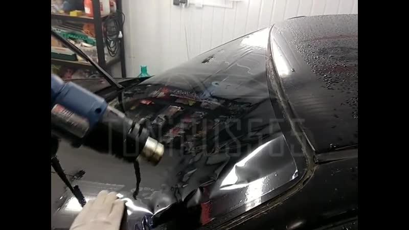 Тонировка лобового стекла на Honda Civik американской 15% пленкой. В карусели - есть видео 🎥. Все подробности по телефону 📲 7-