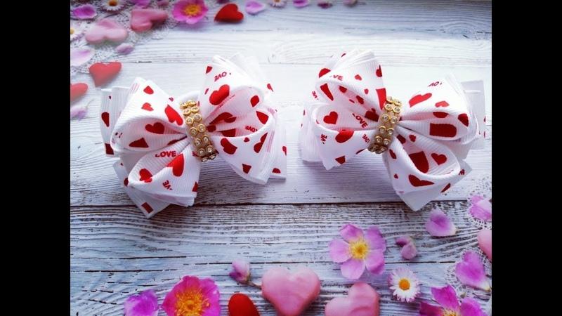 Бантики малышки из репсовых лент МК Bows baby ribbon Fitas bebê a partir de fitas
