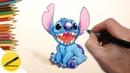 Как Нарисовать Стича поэтапно (Лило и Стич) - Учимся рисовать персонажа ✔