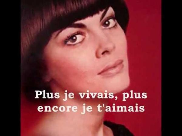 Mireille Mathieu Pardonne-moi ce caprice denfant - Vidéo des Neuneux