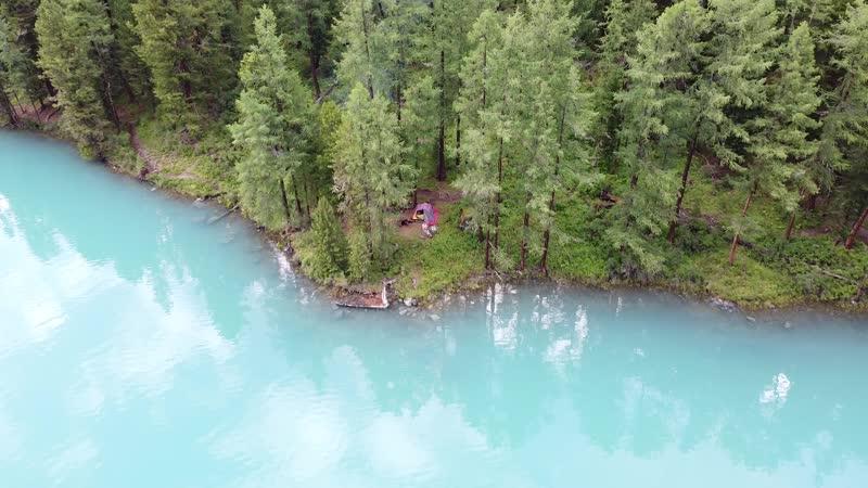 Наша стоянка на озере