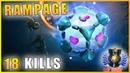Io 18 Kills Mid lane PRO RAMPAGE build Dota 2 Gameplay