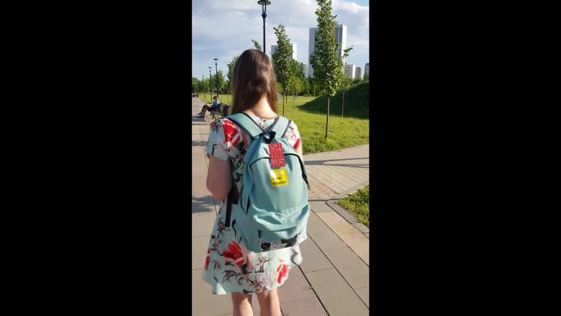 Рюкзак бирюзовый с котиками