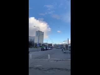 НЛО над Центральным проспектом в День Космонавтики