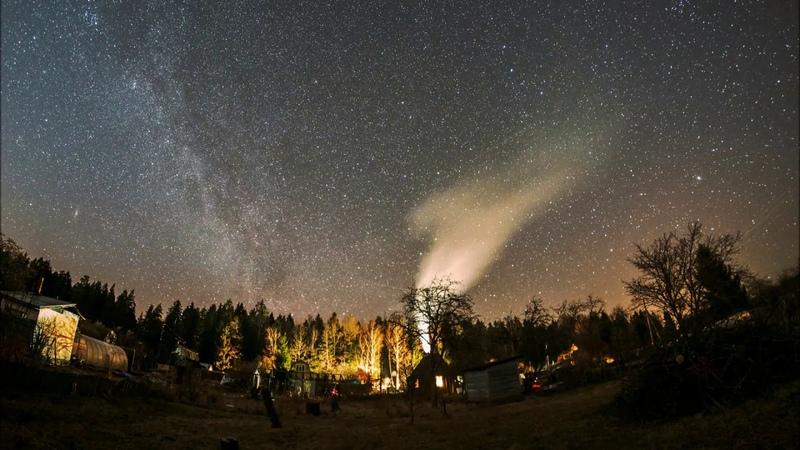 Тайм лапсы весеннего звездного неба в Черняковицах последнюю декаду марта 2020 г