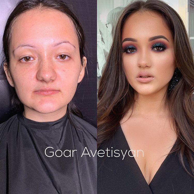 Женщины до и после макияжа, чьи преображения доказывают, что косметику придумали гении