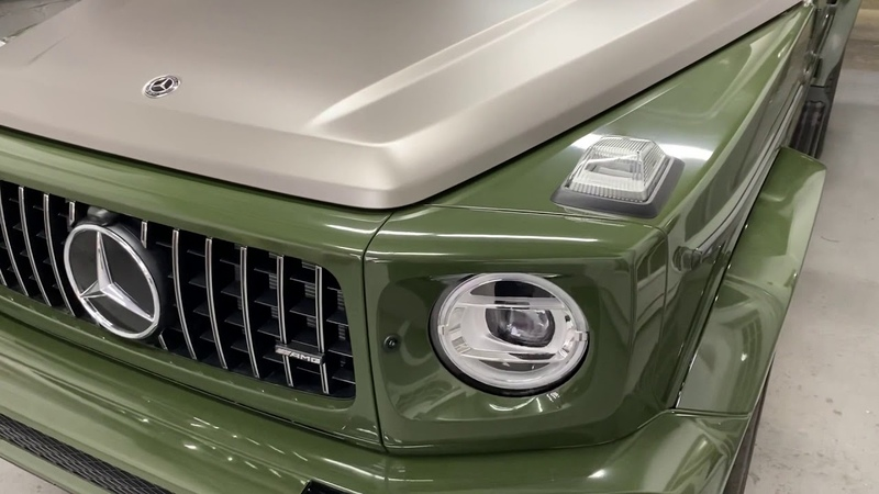 Mercedes GWagon Fully wrapped in a Two Tone theme with full Door Jambs inside and out