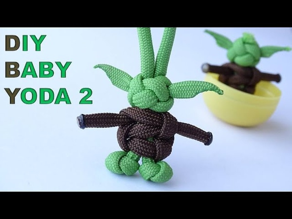 DIY Baby Yoda 2 The Child from Mandalorian-CobraDiamond Knot Paracord KeychainZipper Pull-CBYS