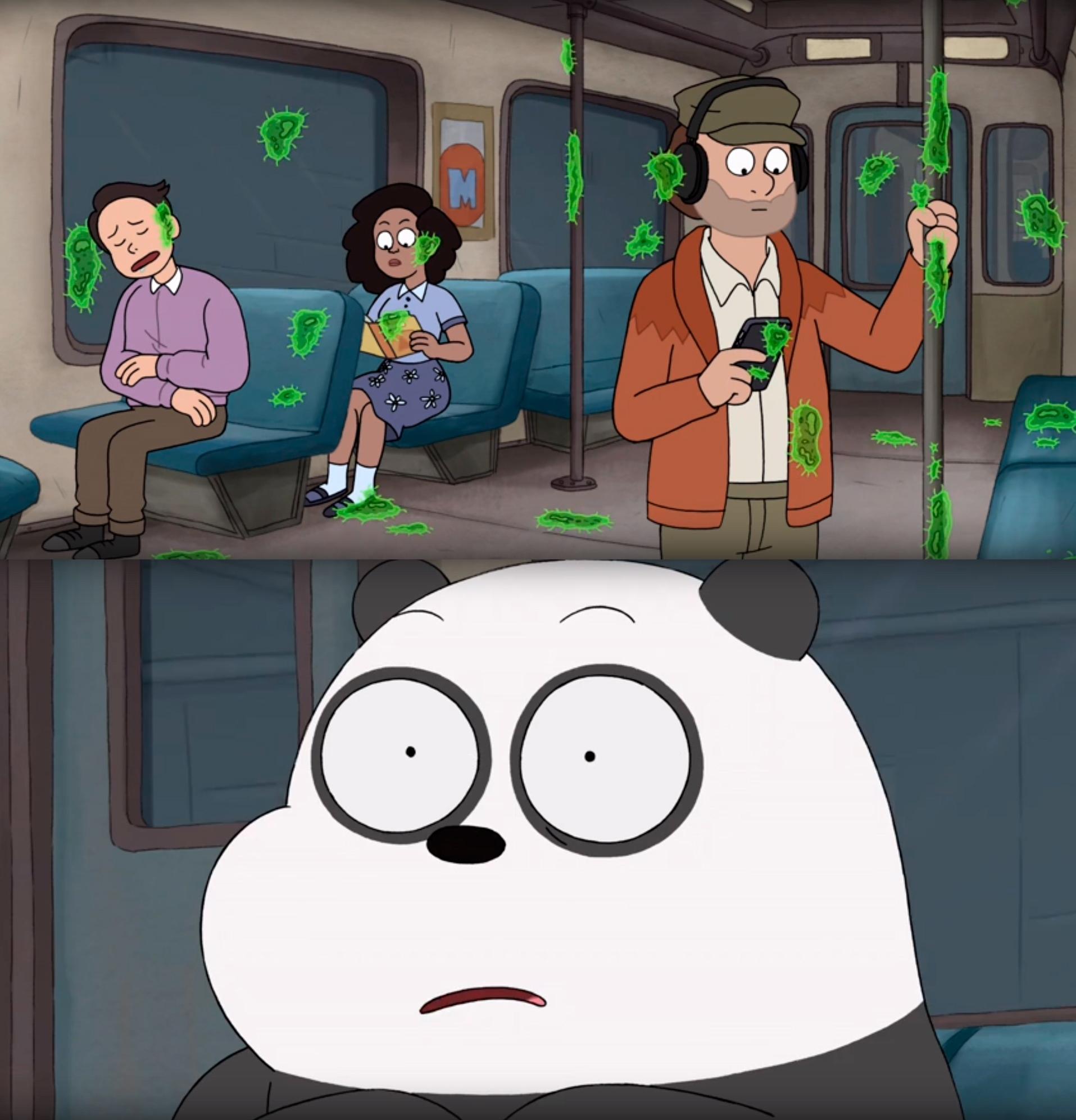 Когда вынужден ездить в общественном транспорте во время эпидемии