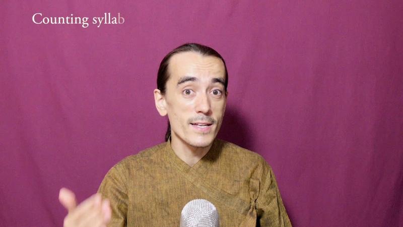 Syllables foundation of Sanskrit chanting