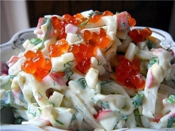 Фото: Три простых салатика с кальмарами