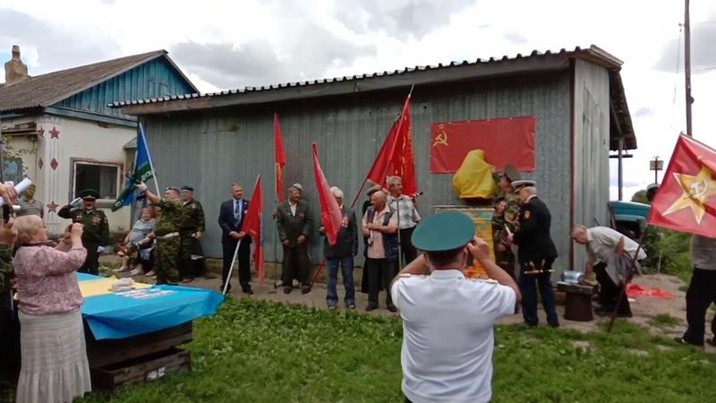 В Орловской области Советские офицеры открыли бюст Сталину И. В.