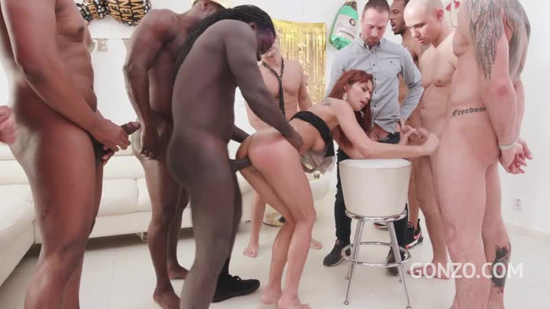 Veronica Leal ( LP top model Veronica gets anal gangbanged for you to celebrate new year piss drinking