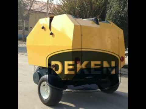 China supply mini round baler hay baler straw baler baler machine star baler with low price for sale
