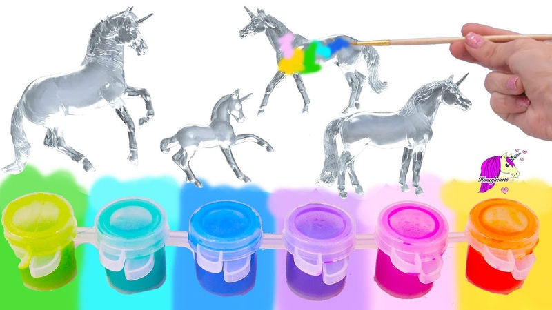 Trying Out NEW Breyer Suncatchers Paint Craft Kit Rainbow DIY Unicorn Horse Set